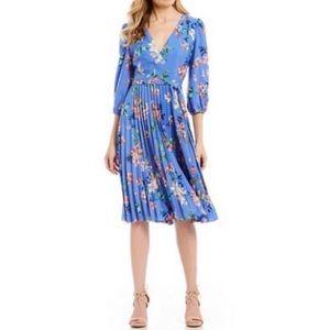 Eliza J V Neck Floral Midi Dress Size 8